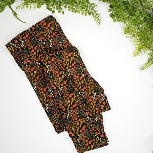 Lularoe tall & curvy fall floral leggings